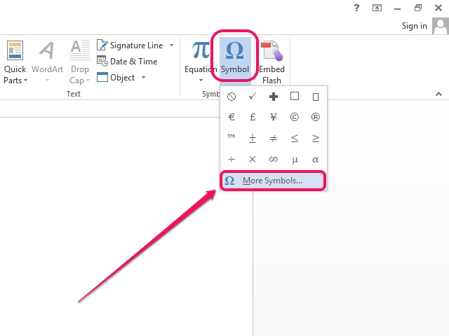 how to write pound symbol in word