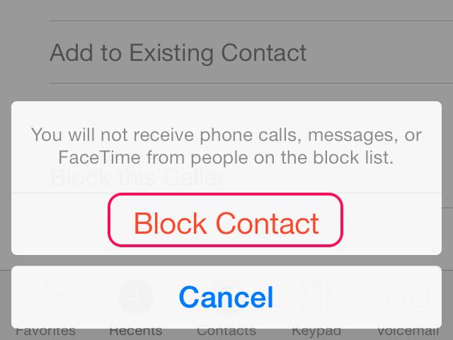 Tap Block Contact