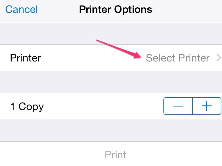 Select your printer.
