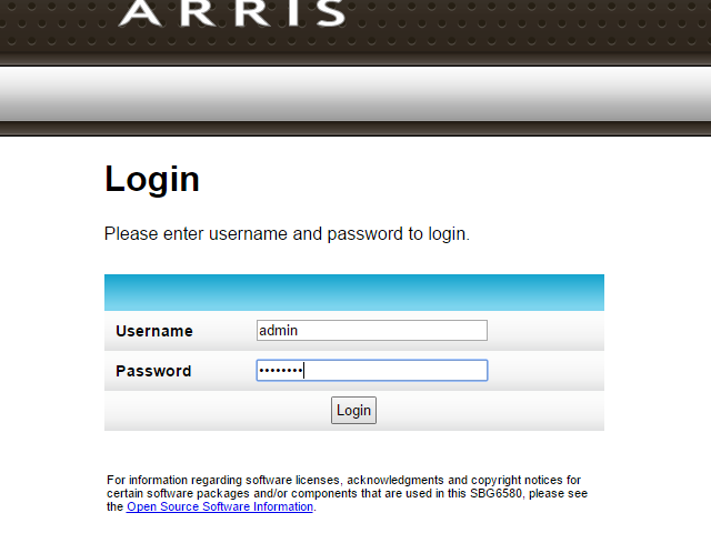 Log into the router's administrator interface.