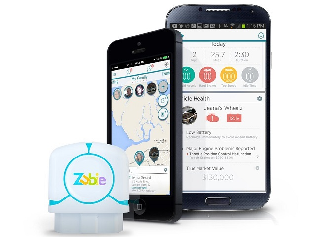 Zubie includes an adapter and app.