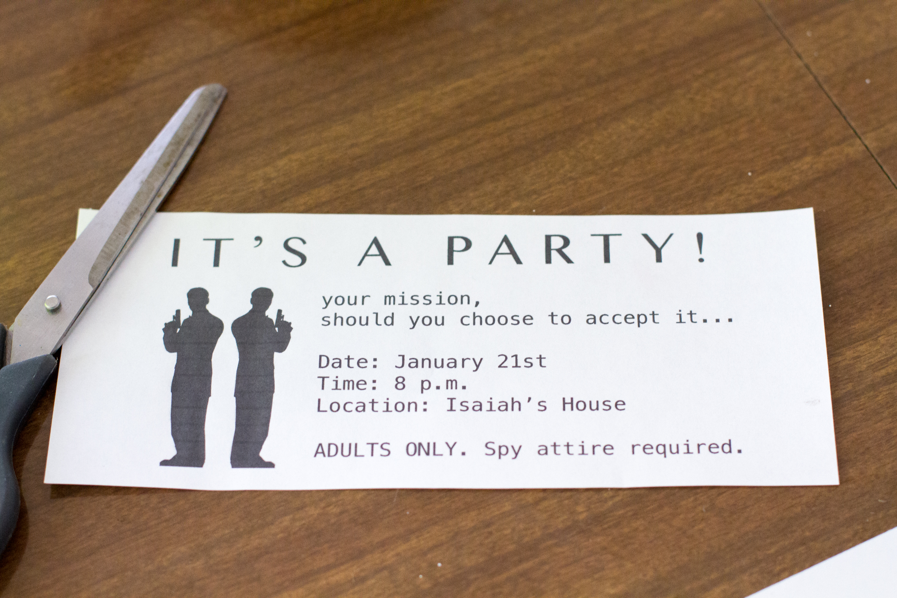 Adult Secret Agent-Themed Party Ideas | Our Everyday Life