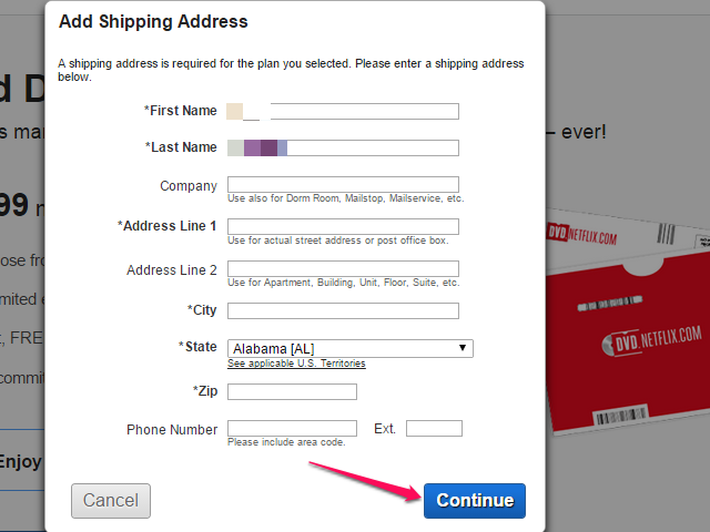 Provide Your Shipping Address