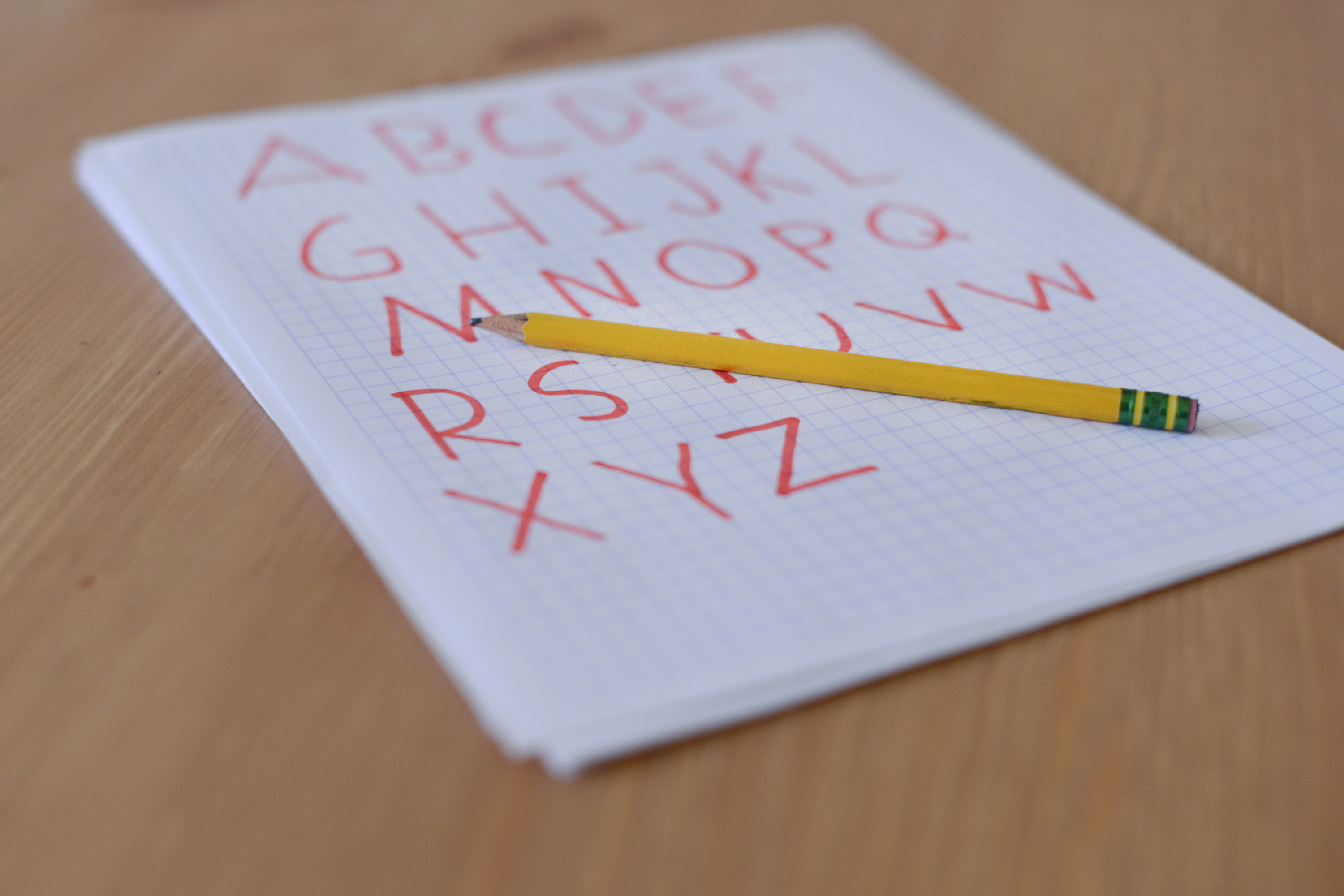 How to make alphabets in graph paper