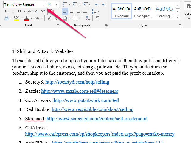 how to change font in copied document