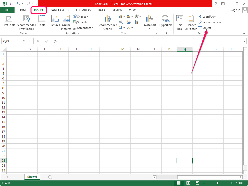 How To Insert A Word File Into Excel Sheet - how to insert excel spreadsheet into word document ...