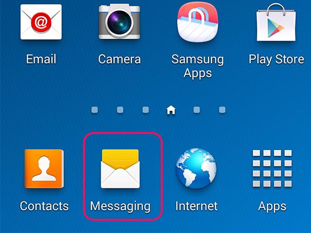 Open the Messaging app.