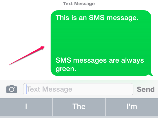 SMS Messages are always green.