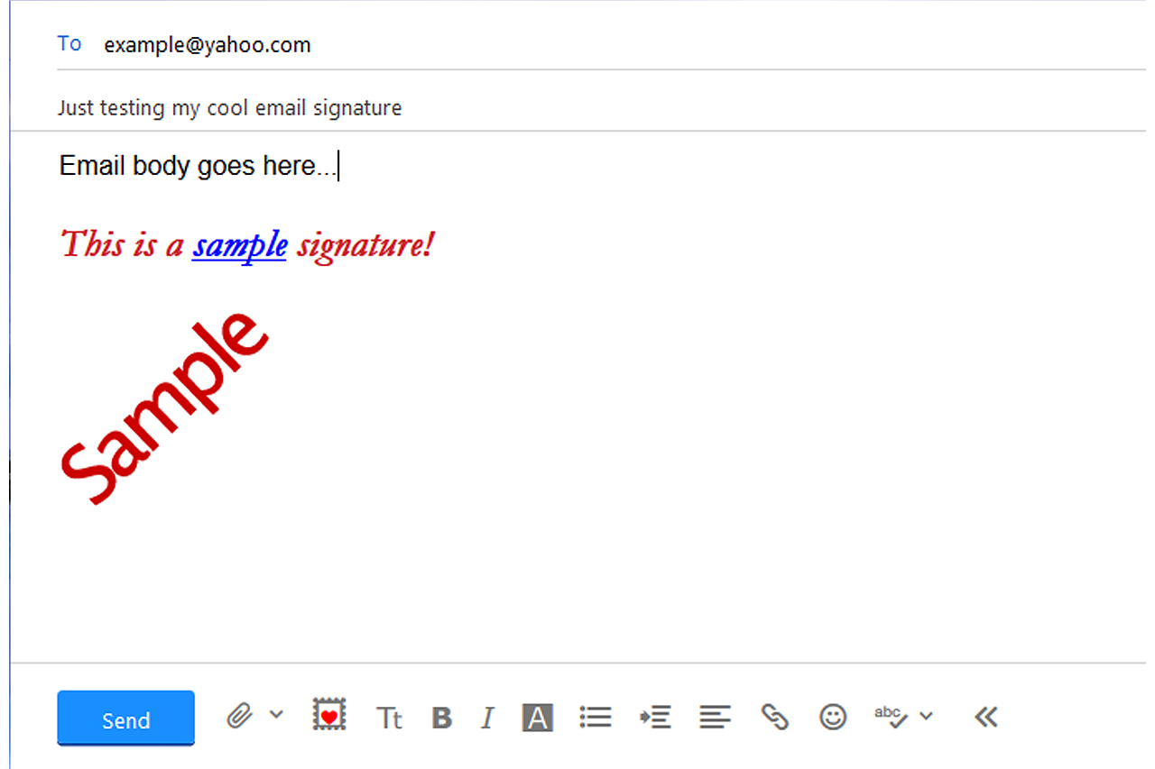 how to make the perfect email signature