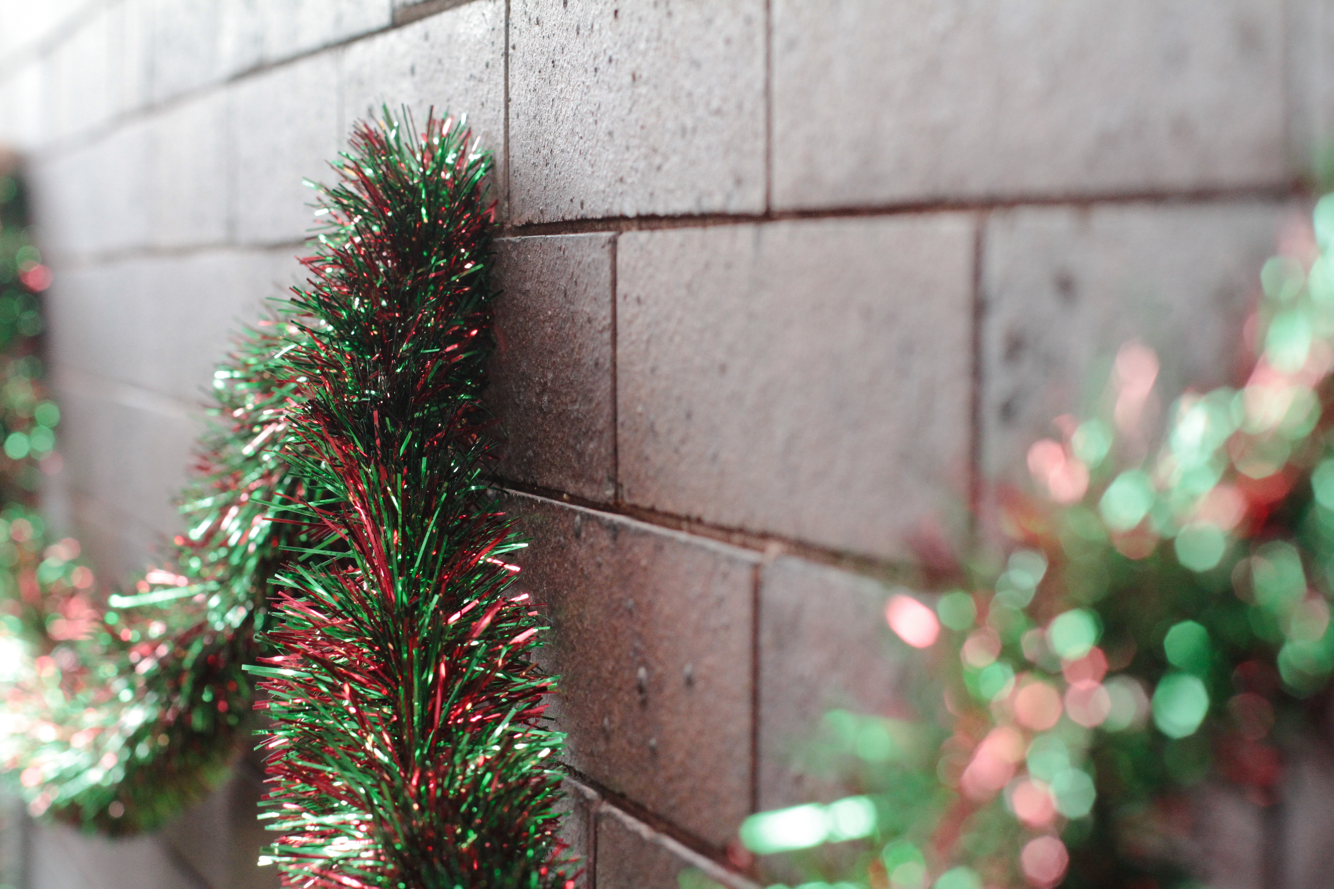 What Can I Use To Attach Christmas Lights To Brick how to hang christmas garland on brick   ehow