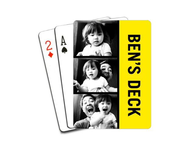 Personalized playing cards from Shutterfly is a unique photo gift for dad