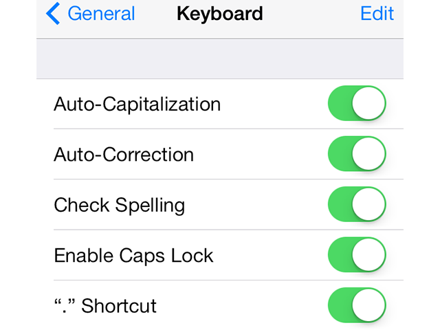 Toggle off the features you don't want to use.