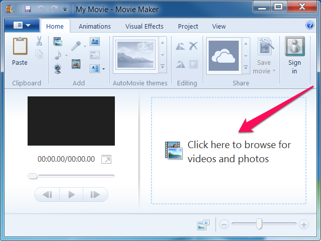 how to change video size on windows movie maker