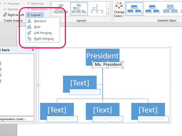 how to create an organization chart in microsoft word