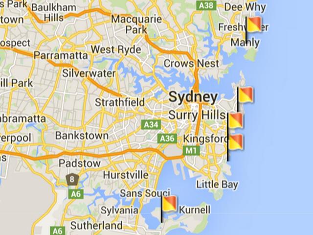 A Google Maps screenshot showing Sydney, Australia