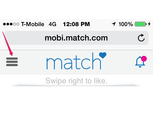 mobile match com sign in