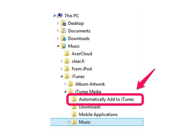 iTunes Add Folder