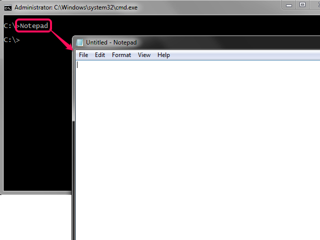 how to run exe file in command prompt