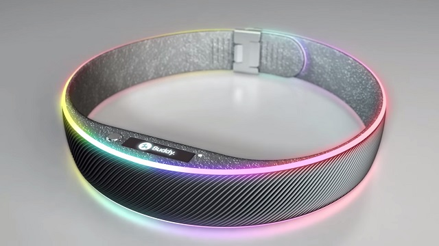 Buddy's smart collar looks high-tech indeed.