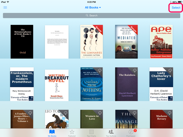 bHow to Delete a Book From the Shelf of an iPad