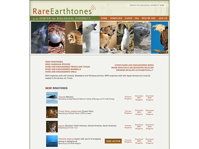Center for Biological Diversity free ringtones