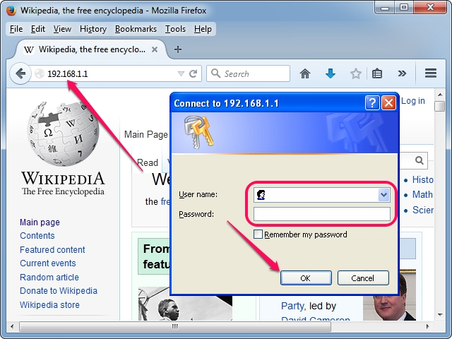 The login dialog in Mozilla Firefox.