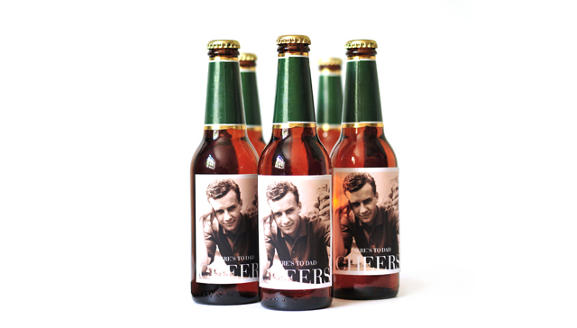 Custom photo beer labels from Pinhole Press are a unique photo gift for dad