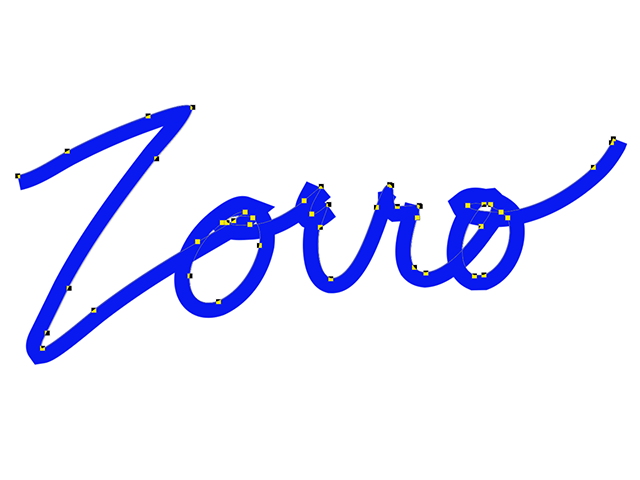 Zorro appears as a blue stroke.