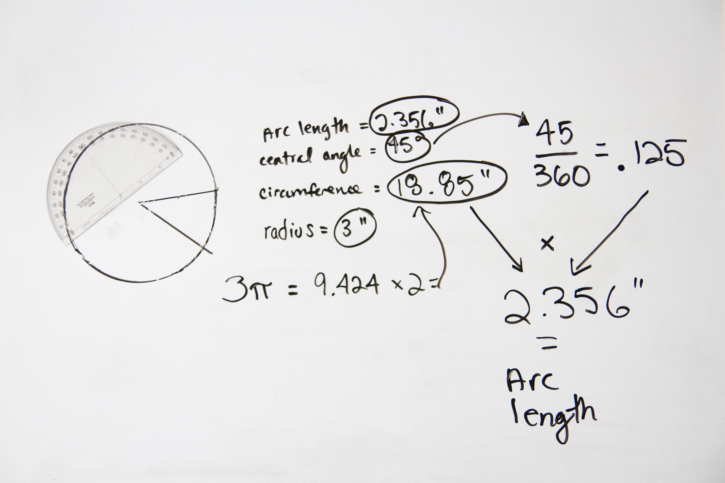How To Calculate The Arc Length, Central Angle, And Circumference Of A  Circle  Sciencing