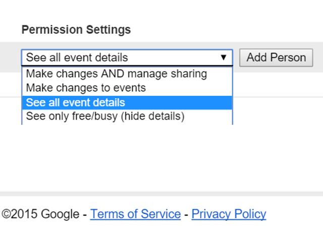 Select a permission Setting.