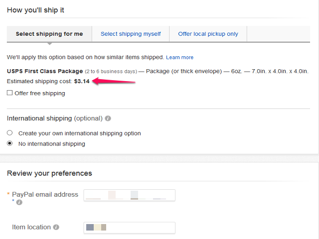 Choose Shipping Options