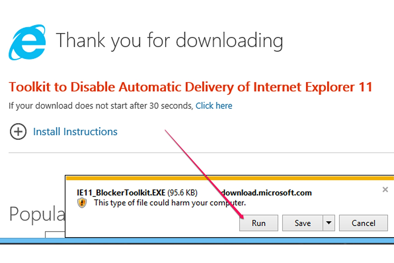 How to turn off microsoft internet explorer update it for Window explorer