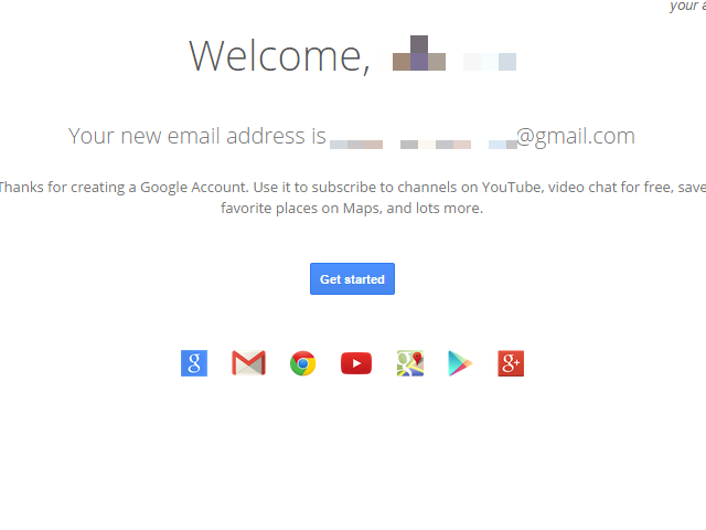 Note that you now have an Google account.