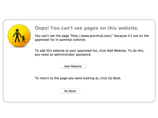 This website is blocked by Parental Controls.