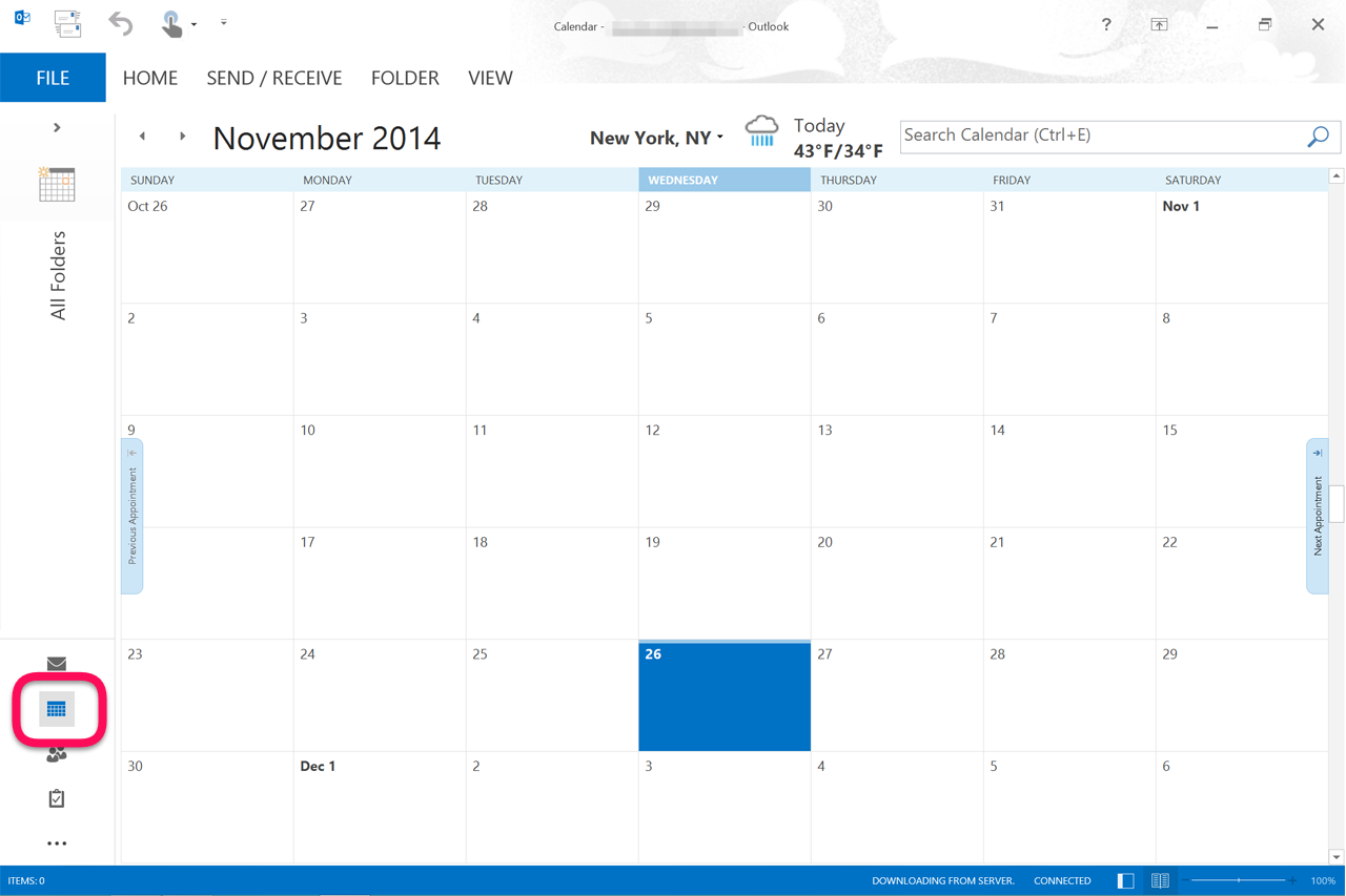 how to open outlook live calendar in outlook