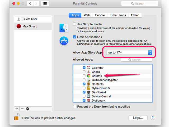 how to allow chrome to access location mac