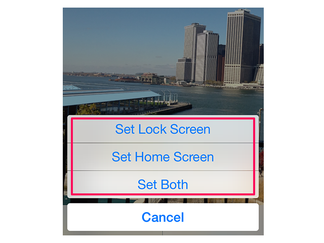 Enable screensaver on an iPhone's lock screen.