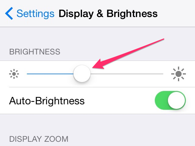As you move the slider, the screen lighting adjusts in real time.