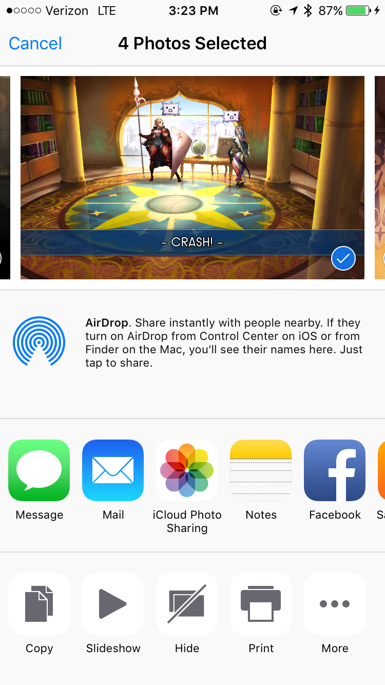 Choose an app for sending your photos