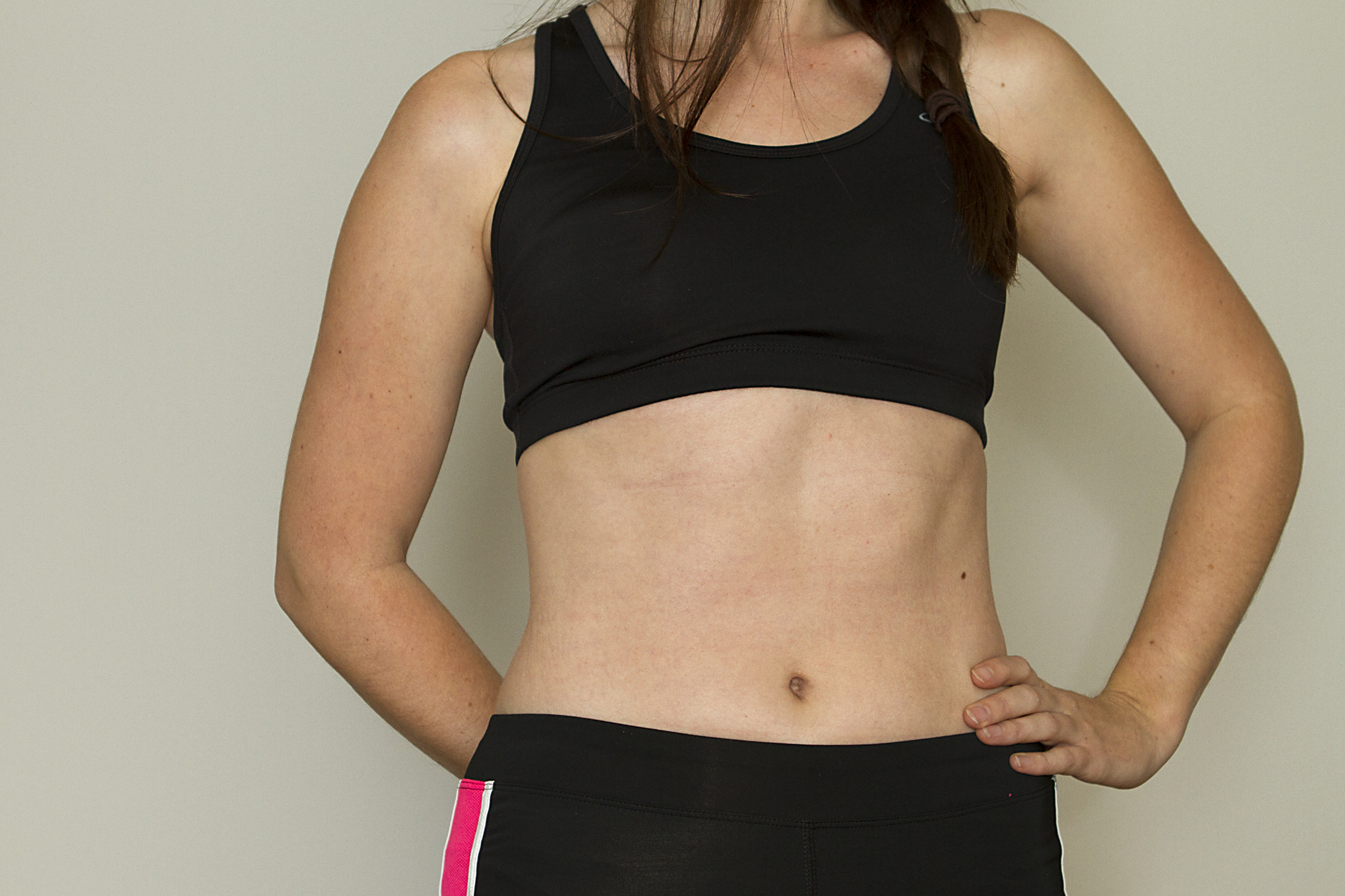 How to remove the lower abdomen 74