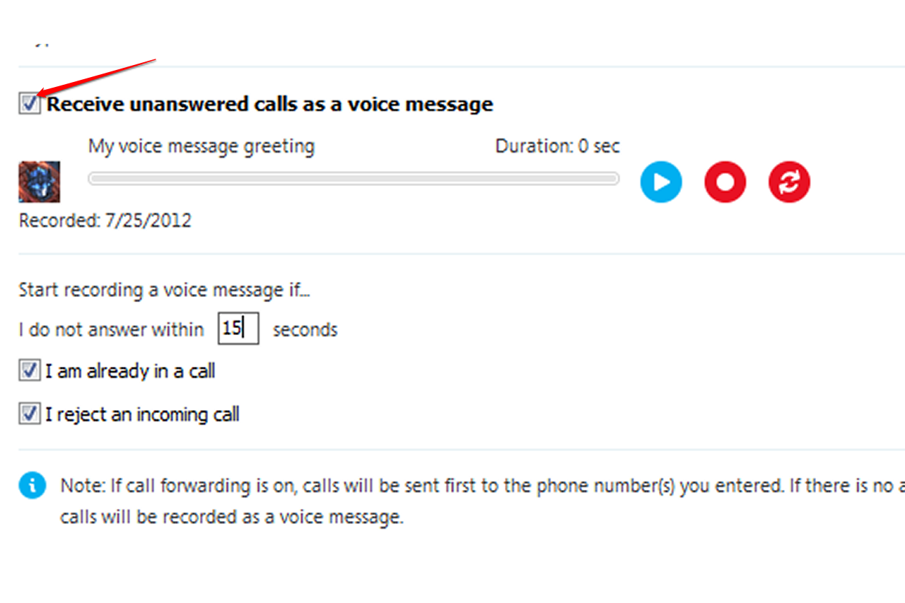 How to change your skype voicemail message it still works the voice messages options menu m4hsunfo