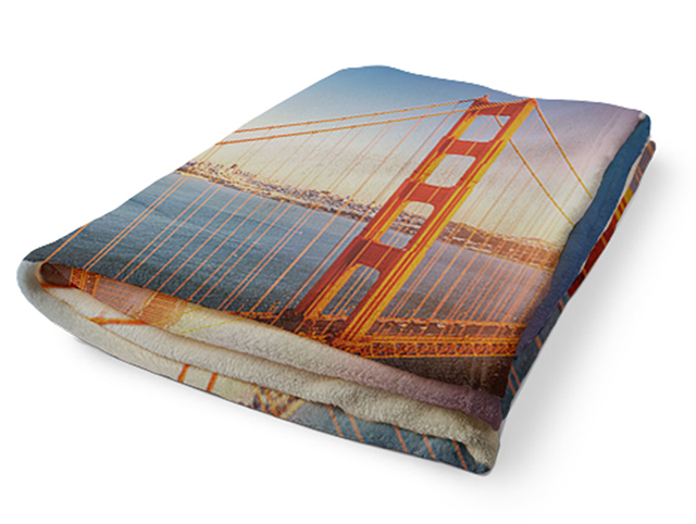 A plush fleece photo blanket from Snapfish is a unique photo gift for dad