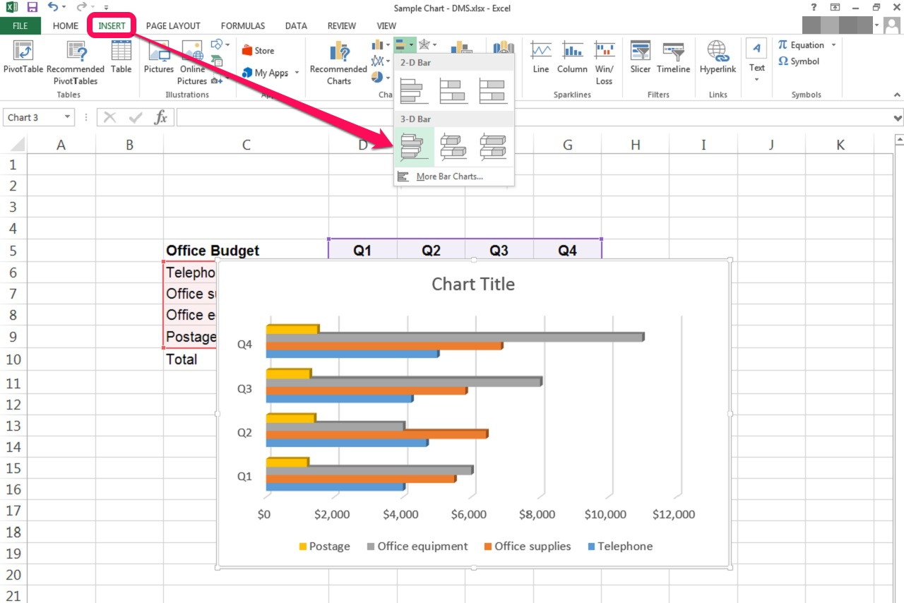 How to Create a Bar Graph in an Excel Spreadsheet | It ...
