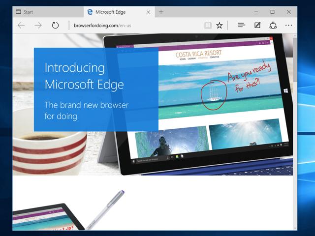 Microsoft Edge on Windows 10.