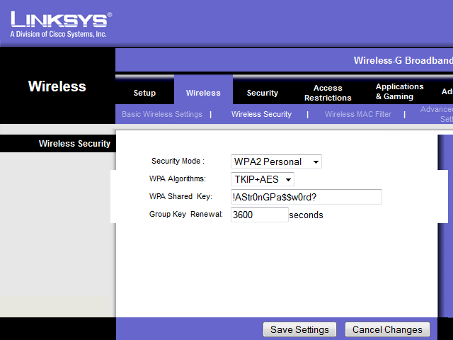 bHow to Put a Password on Linksys Wi-Fi