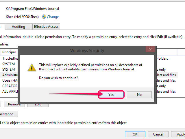 Windows Security prompt (Windows 8.1).