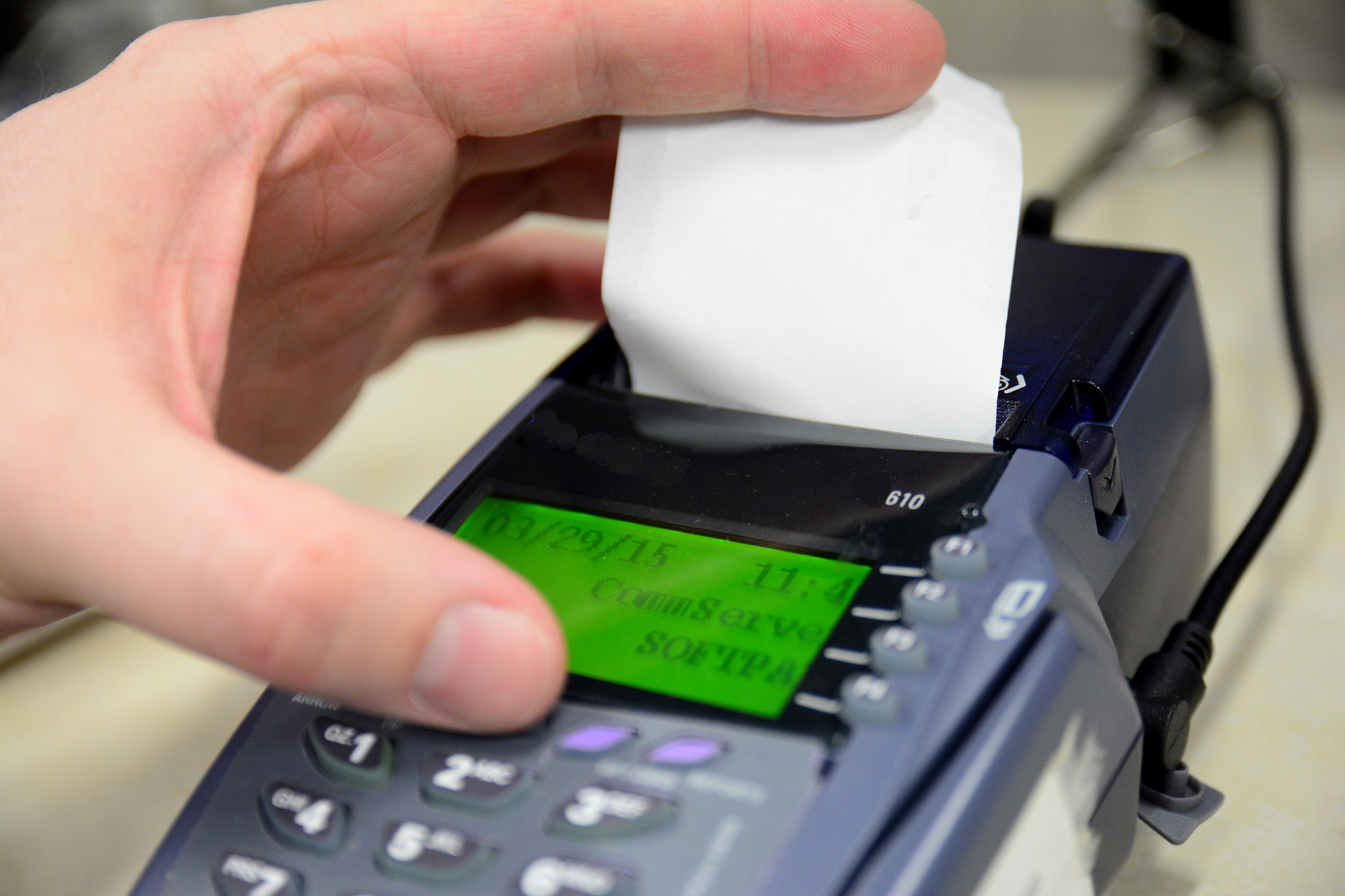 paper for credit card machine