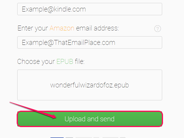 Click Upload and Send.