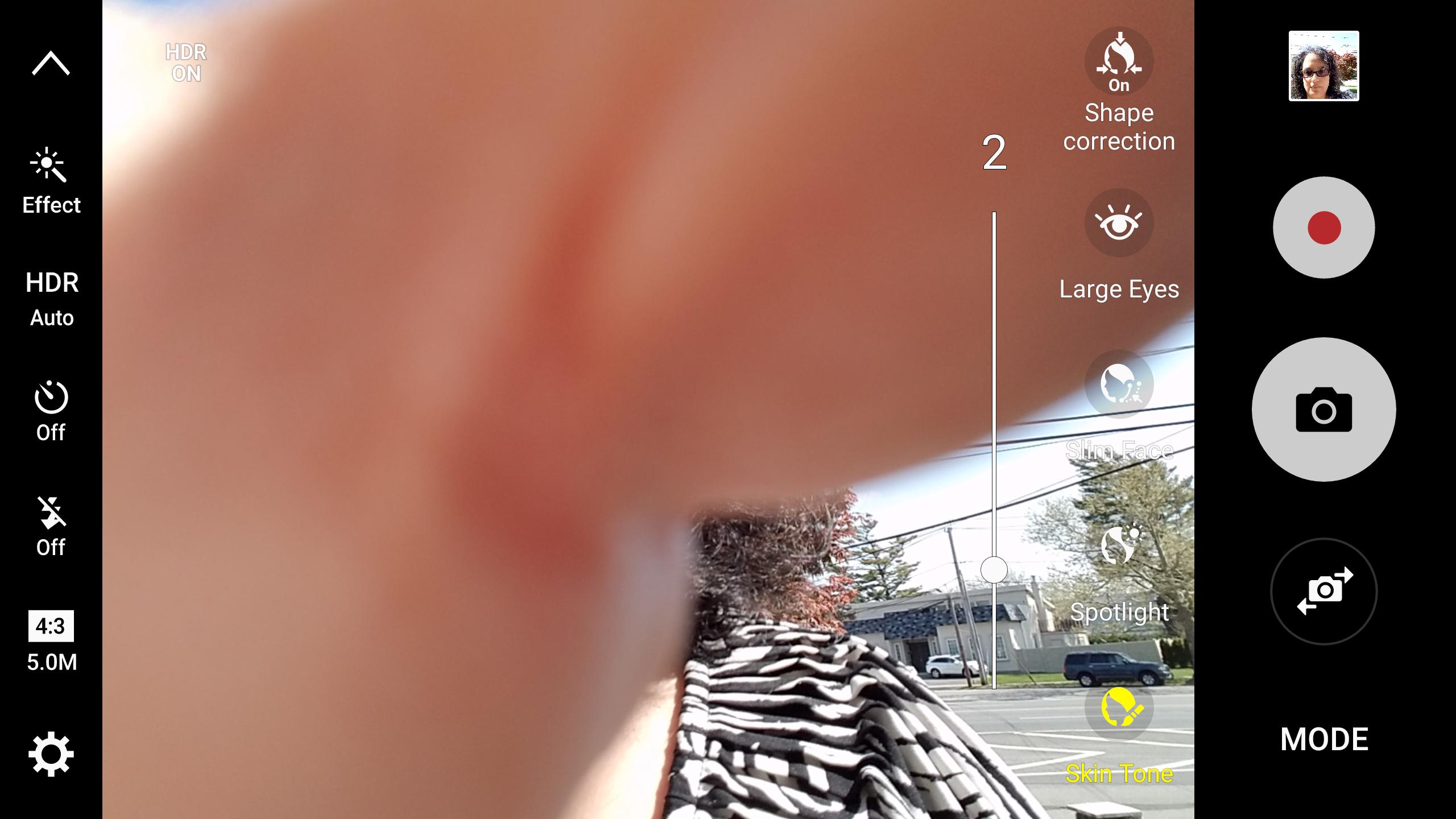Adjust your selfie look.