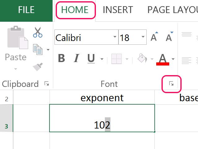 Click the Font arrow.